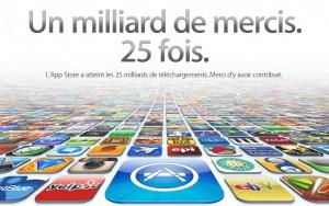 25 millions de téléchargements pour l'AppStore