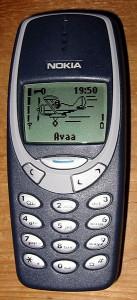 Un Nokia 3310, symbole de toute une époque.