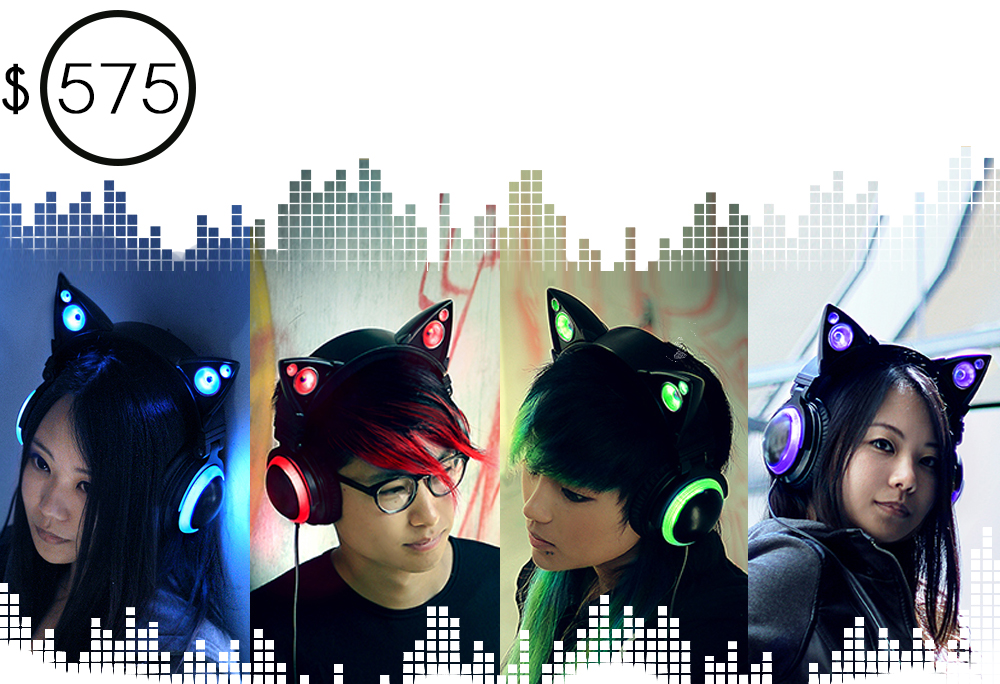 le casque oreilles de chat qui affole les compteurs indiegogo geekattitude. Black Bedroom Furniture Sets. Home Design Ideas